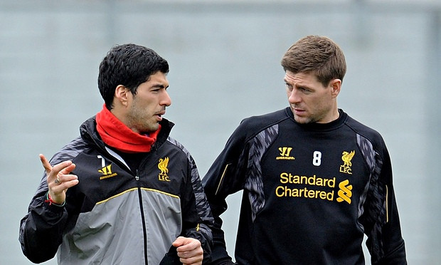 Steven Gerrard and Luis Suarez.