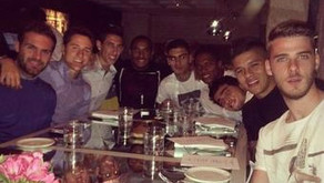 Photo: Man Utd's team eat out on Champions League night.