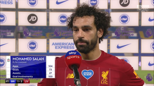Salah has scored 73 goals and registered 27 assists in 104 appearances for Liverpool. [Sky Sports Screen Shot]