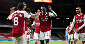 Mikel Arteta pleased with Arsenal youngster Eddie Nketiah's performance.