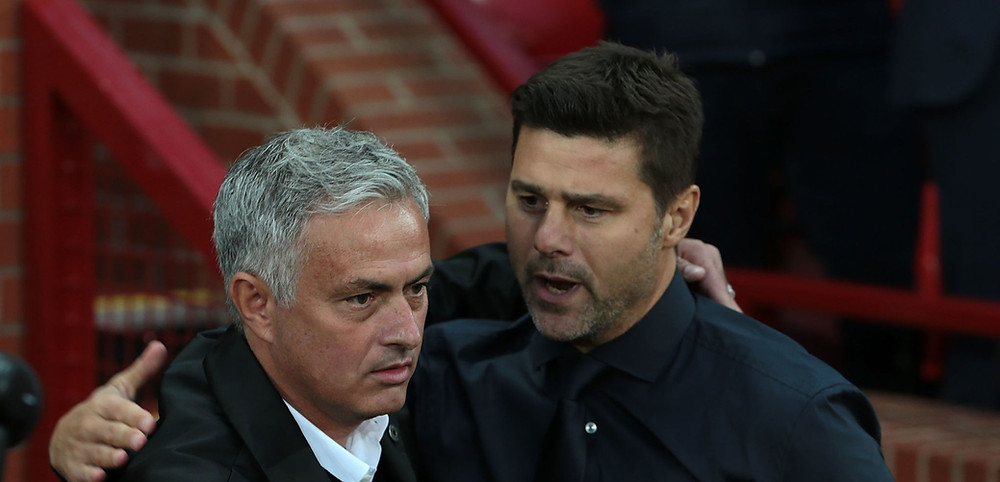 Jose Mourinho [L] replaced Mauricio Pochettino [R] at Spurs in November 2019 [Getty]