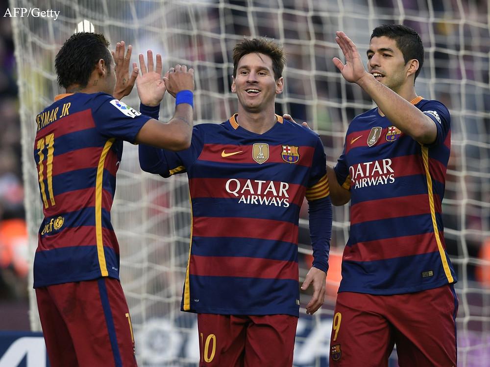 Neymar, Messi and Suarez.