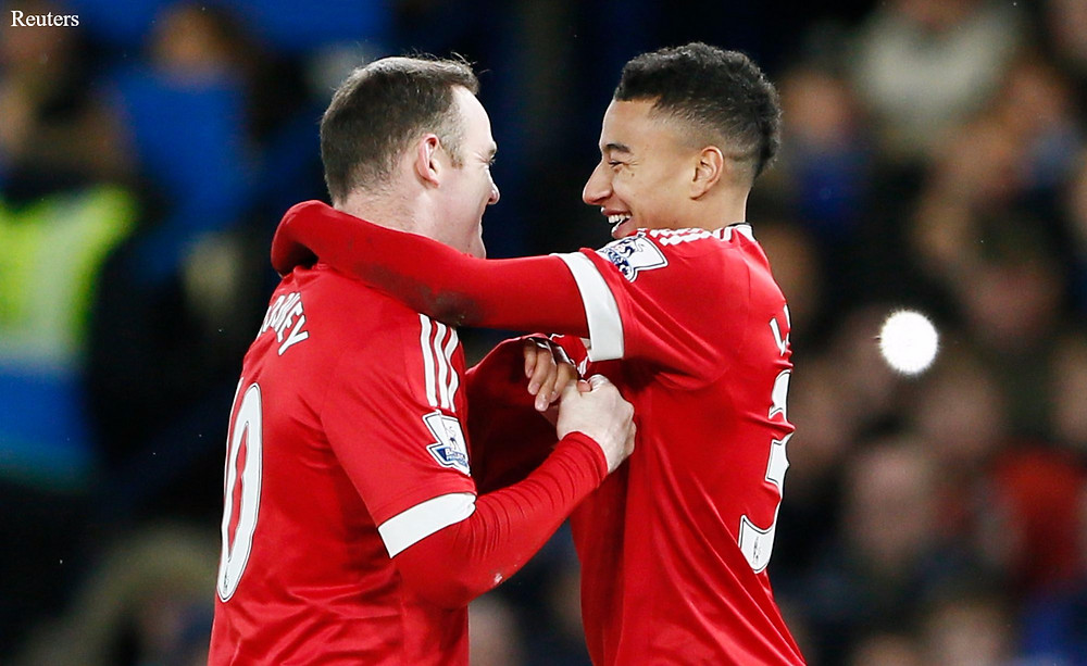Jesse Lingard and Rooney