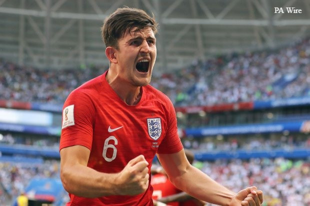 Harry Maguire impressed for England at the World Cup this summer.