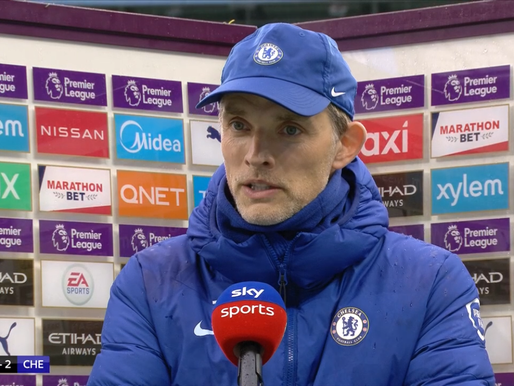 Chelsea Thomas Tuchel: 'We deserved to win the second half.'