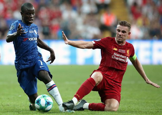 Kante and Henderson battle for the ball. (Image: Nick Potts/PA Wire)