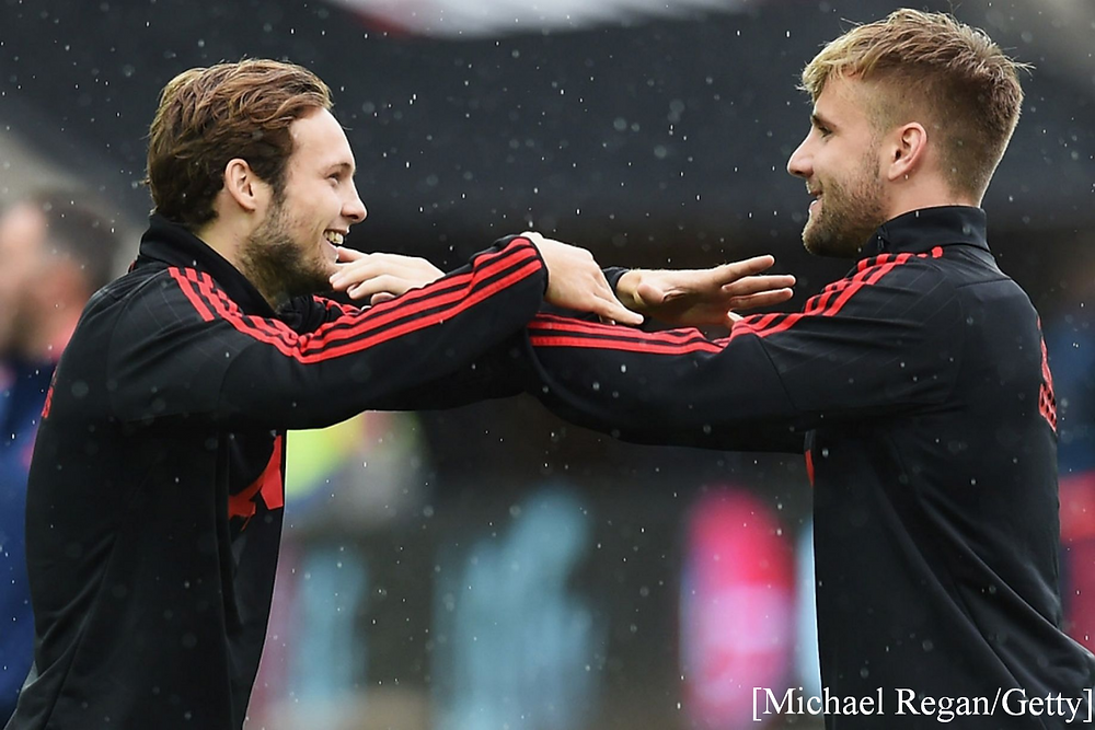 Daley Blind and Luke Shaw