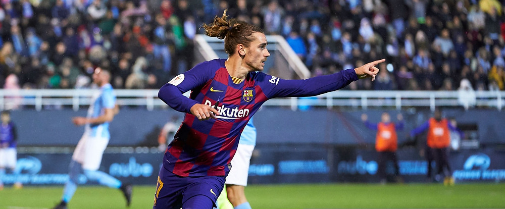 Griezmann has scored 14 goals in 37 games for Barca so far. [Getty]