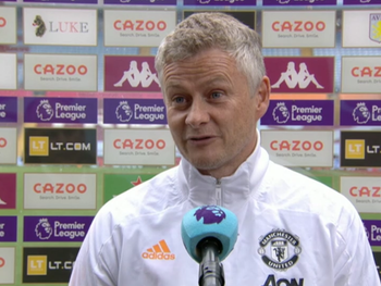 Solskjaer labels Aston Villa win as a great result.
