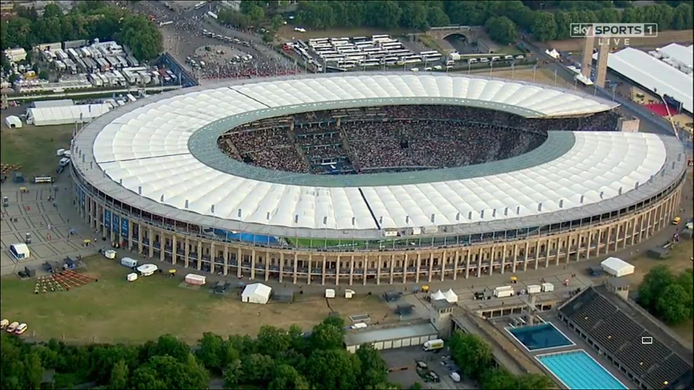 View of the Olympiastadion Berlin. Source: Sky Sports 1