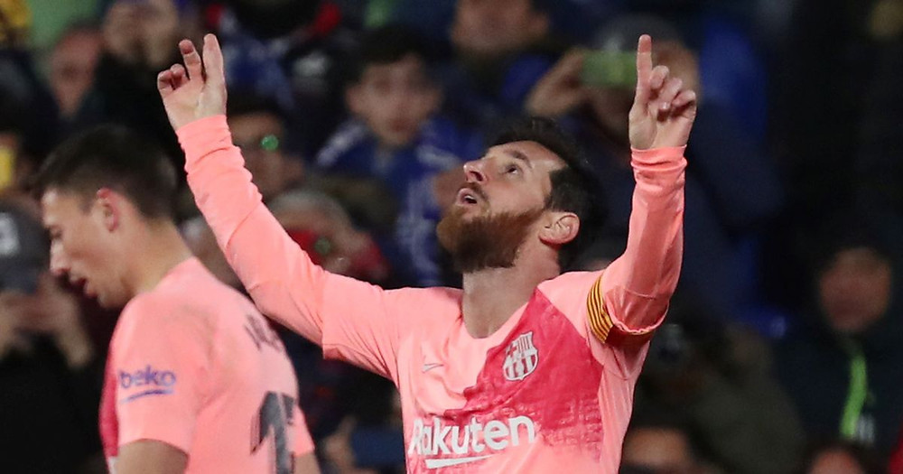 Lionel Messi set Barcelona on their way to victory against Getafe.