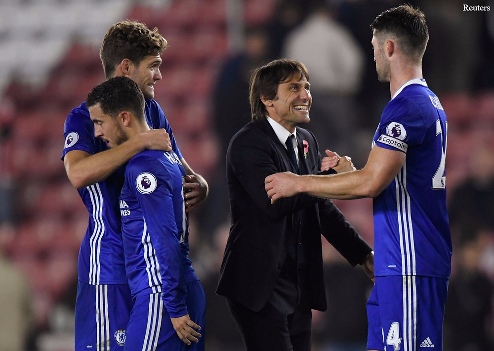 Conte succeeded Mourinhho and went on to win the Premier League in his first season and the FA Cup in his second and final campaign. (Reuters)