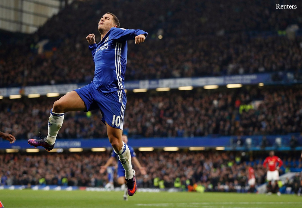 Eden Hazard sealed a move to Real Madrid on Friday. [Reuters]