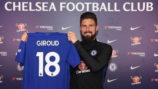 Giroud joined Chelsea last year January. (Image: ChelseaFC)
