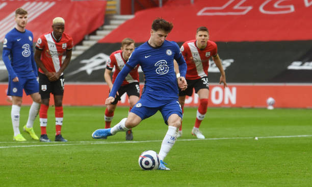 Mason Mount hits the target form the penalty spot at the St Mary's stadium. [Getty]