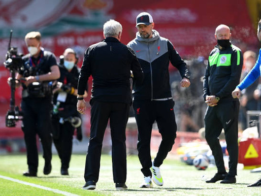 Klopp and Thiago Alcantara react after Liverpool's 1-1 draw with Newcastle.