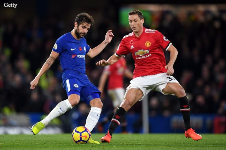 Fabgregas and Matic in action.