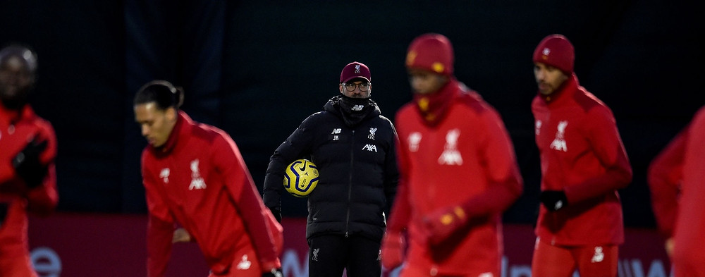 Klopp's boys are 25 points clear of champions Manchester City with nine games left to play. [Getty]