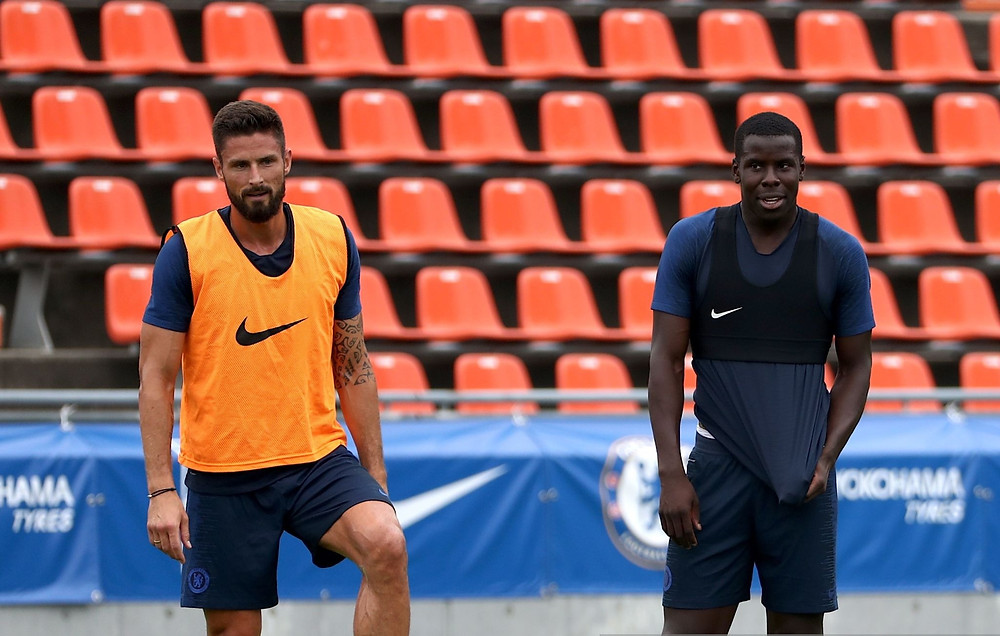 Chelsea players players Giroud and Zouma [Getty]