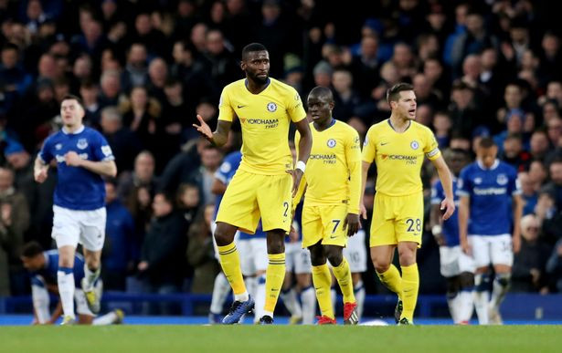 """Rudiger labelled the Blues' display against the Toffees as """"unacceptable and dangerous"""". (REUTERS)"""