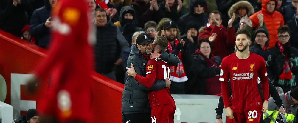 Klopp is pleased his Liverpool side have taken another major step towards their first league title in 30 years. [Getty]
