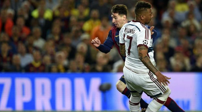 Messi sends Boateng parking as the Argentine finds the net.