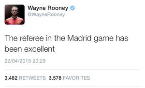 Rooney hails referee Felix.