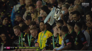 Man City thrashed the Villains at Wembley on Sunday to secure the Carabao Cup for the third year in a row. [Sky Sports Screen Shot]