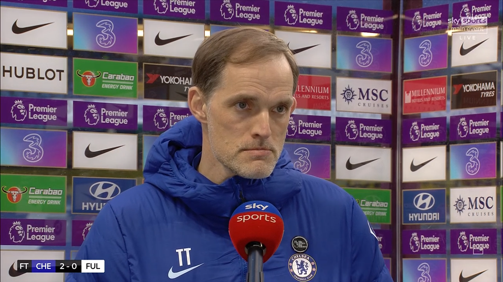 Chelsea boss delighted with win over Fulham [Image: Sky Sports Screen shot]