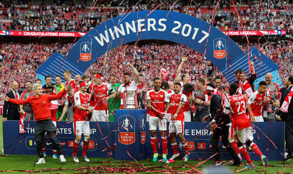 Arsenal FA Cup winners 2017. [Getty]