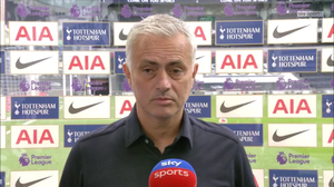 Mourinho pleased his side secured a win against Everton [Sky Sports Screen Shot]