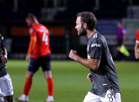 Man Utd Mata pleased with professional job against Luton Town FC.
