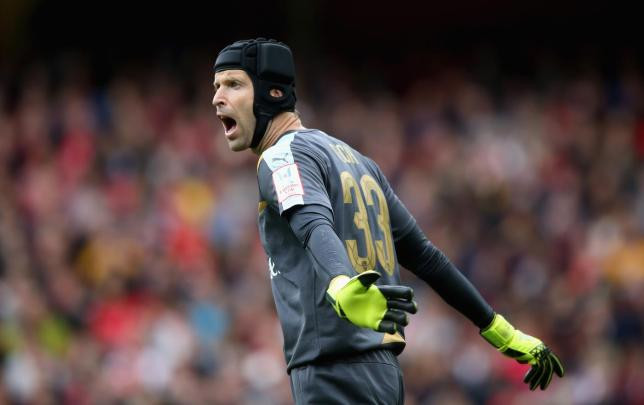 Petr Cech at the Emirates Stadium. [Getty]