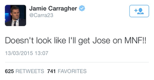 Carragher takes a swipe as Mourinho.