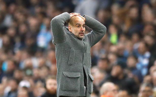 Pep Guardiola was left stunned. [PA]