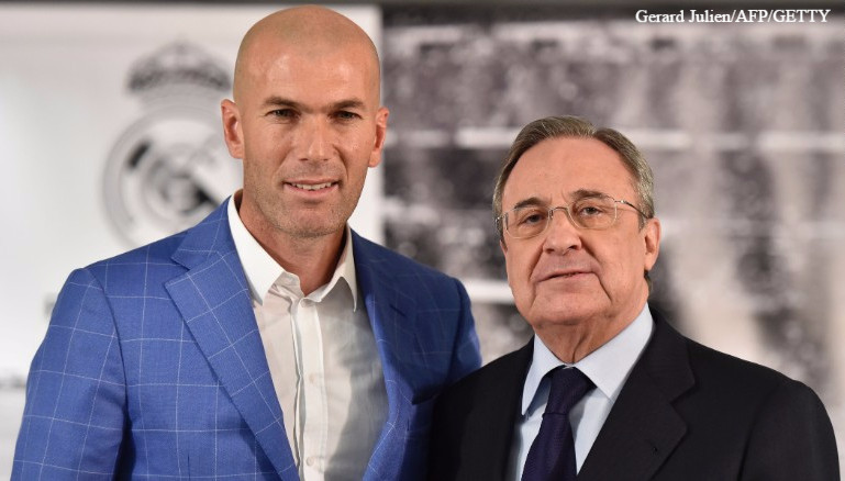 Zinedine Zidane and Florentino Pérez.