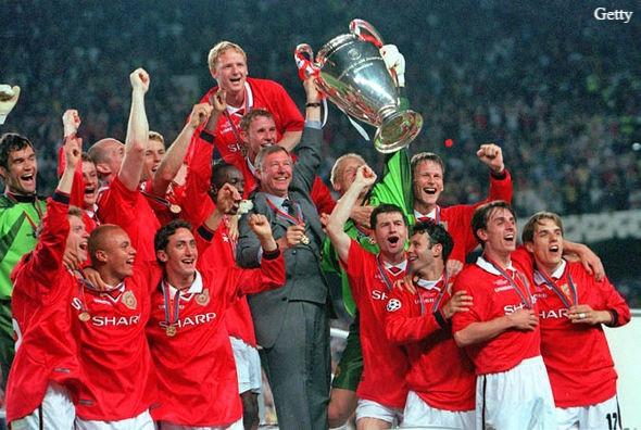 Manchester United's 1999 treble-winning side.