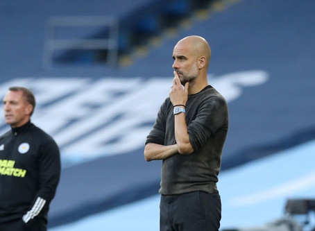 """Man City coach Guardiola: """"The problem was we put extra pressure on ourselves."""""""