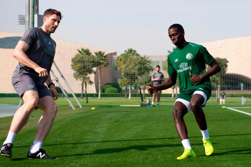 Timothy Weah at Celtic's winter camp in Dubai.