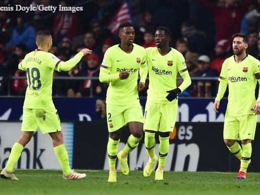 Atletico Madrid 1 - 1 Barcelona: Dembele earns point for Valverde's side.