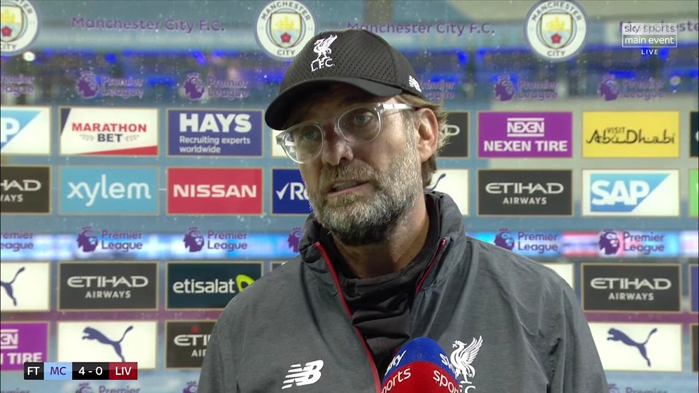 Klopp says Man City were quicker than Liverpool in mind. [Sky Sports Screen Shot]