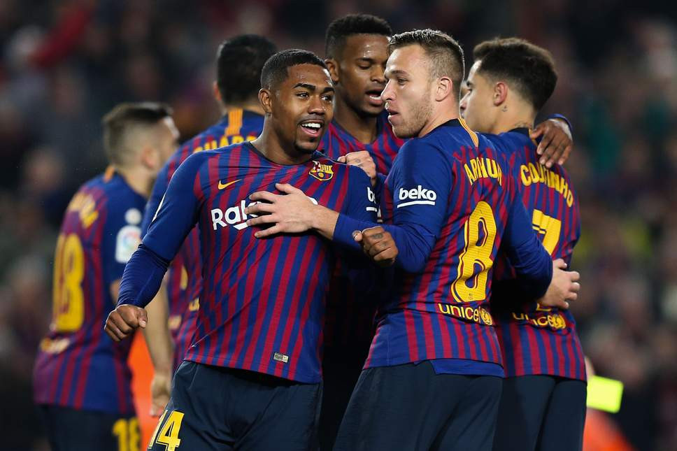 Malcom starred for Barca. [AFP/Getty]