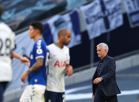 Jose Mourinho disappointed with Tottenham's narrow loss to Everton.