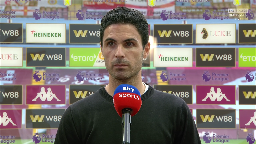 Arsenal head coach Mikel Arteta [Sky Sports Screen Shot]