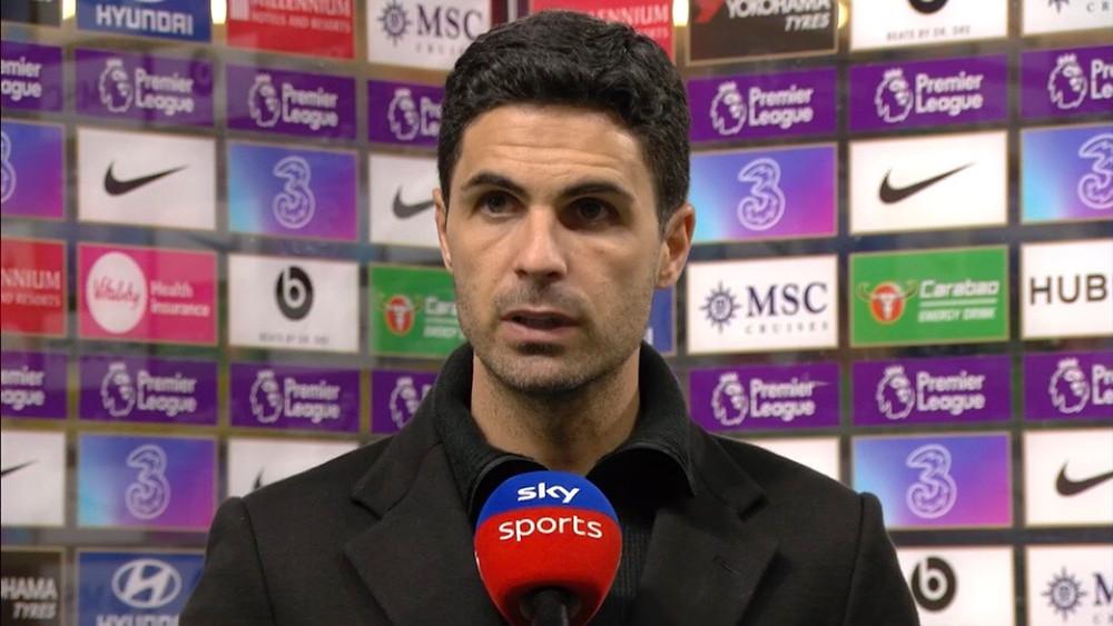 Arteta hails Arsenal 1-0 win over Chelsea at Stamford Bridge [Sky Sports Screen Shot]