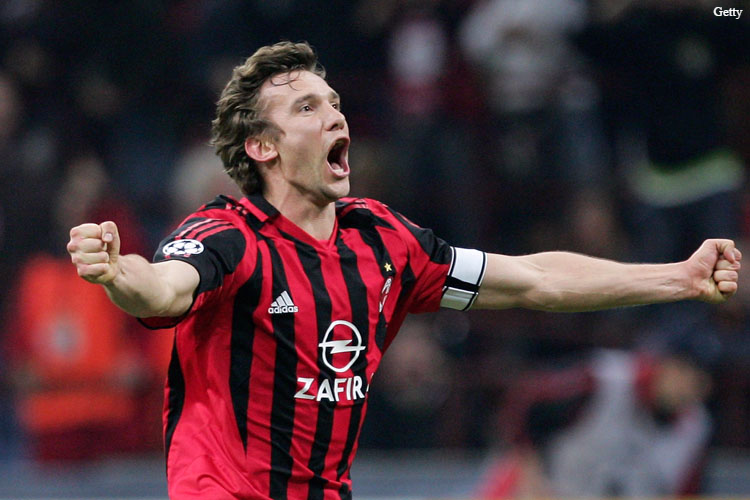 Shevchenko had a successful spell during his time at the San Siro.