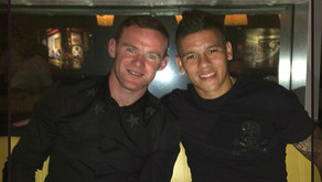 Photo: Rojo & Captain Wayne Rooney