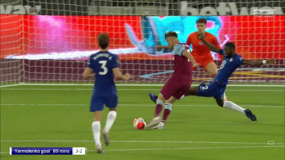 Yarmolenko's 89th-minute goal downed the west London club. [Sky Sports Screen Shot]