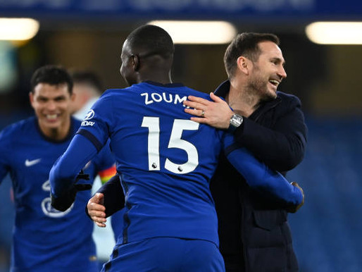 Lampard reacts after Chelsea beat West Ham 3-0.