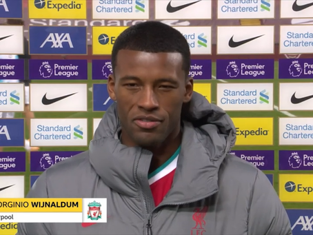 Georginio Wijnaldum: It was a great feeling to see the Liverpool fans at Anfield.